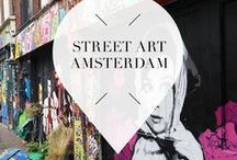 """Street Art - Amsterdam / In Amsterdam, The Netherlands, you can find amazing street art. But where exacalty? Your Little Black Book collected all the cool locations where you can find must visit steet art, painted walls and graffiti. ➜ DOWNLOAD OUR APP with over 700 addresses, just search for """"YOURLBB"""" in your app-store!"""