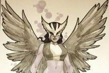 League of Heroes (DC) / Superman. Supergirl. Powergirl. Lois Lane. Hawkgirl. Madame Xanadu. Lady Blackhawk. The Flash. Starling. Justice League. Justice League Dark. Raven. Big Barda.  / by Thea Alarcon