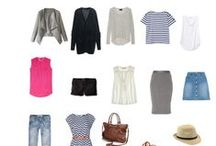 Capsule Travel Wardrobe / For Summer in Europe. 16 items all mix and match for almost any situation.