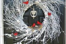 Wreaths, wall-hangings, etc. / Why buy when you can make these yourself to match the season AND your decor... / by Patricia Duffy