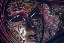 """Behind the Mask / Masks for me have become a symbol of the face I put on every day to hide the pain and sadness in my heart and soul.  """"Do you not know that there comes a midnight hour when every one has to throw off his mask?""""   ― Søren Kierkegaard / by Glenna Hard"""