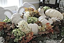 Home Decor with gourds, pumpkins and other natural items. / Inspirational ideas to add gourds to your home decor.