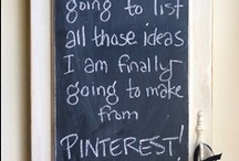 Chalk It Up To This / Lots of great inspiration using chalkboards...I need to leave lots of reminders around my home!