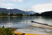 Stand Up Paddle in Switzerland / Doing SUP on the lakes in Switzerland