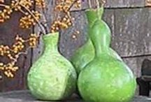 Outdoor decorating with gourds, pumpkins and other natural items. / Ideas for decorating outside with gourds, pumpkins and other natural items.