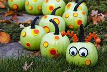 Kid gourd crafts / Fun and simple ideas to craft with the kids using gourds and pumpkins.