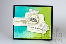 Paula Pascual Stamps / Some of the projects to be found online using clear stamps designed by me!