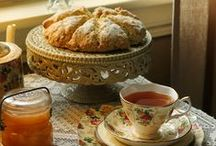 English tea party, Garden party, High Tea, picnic, victorian, edwardian, floral desserts / by ☆St. James Infirmary Blues☆