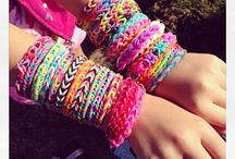 LOOM bands!! / Rainbow Loom projects for kids to adults