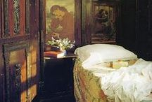 Old world bedrooms, rustic, antiquarian, minimalist, ascetic / by ☆St. James Infirmary Blues☆
