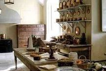 Old World Rustic Kitchens, Antique, Minimalist, Dining, Butler's Pantry, wood stoves / by ☆St. James Infirmary Blues☆