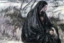 tragic irish tales, celtic folklore, scottish legends, ghosts, ballads, selkies, waterhorses, sidhe / by ☆St. James Infirmary Blues☆