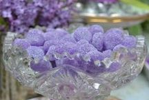 ♥♥♥ purple birthday party ♥♥♥ violets and vintage lace, lilacs, lavender, tea party, purple food / by ❧ St. James Infirmary Blues❧