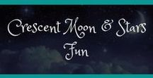 Crescent Moon & Stars Fun / Check out my own, original art and designs I created for my blog/social media engagement.  www.crescentmoonandstars.com