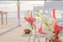 Beach Wedding Aisles / From our colorful kissing balls, to Seaside Poles, and fresh flower combinations, Tide the Knot Beach Weddings creates beautiful aisles for real life beach weddings, vow renewals, and commitment ceremonies.  Copyright 2014 www.tidetheknotbeachweddings.com