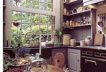 Kitchens / Something magical about an old fashioned kitchen / by Sylvia Crawford