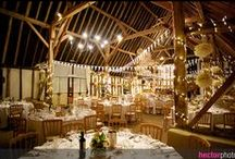 Clock Barn Weddings / Situated in beautiful surroundings in the heart of rural Hampshire, this impressive barn, refurbished in 2002, is a truly wonderful country venue. Find out more about the venue: http://bit.ly/T9FUDX  The barn is set on a pretty, well-maintained working farm and distinguished by the historic thatched clock at its entrance. This venue could be a million miles from anywhere, yet is only five minutes from the A34 and fifteen minutes from both Winchester and Newbury.