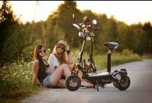 Trottinette Electrique (electric scooter) : pictures & videos / Une petite board sur mon nouveau moyen de transport : la Trottinette Electrique !  Pratique (c'est pliable), Utile (idéal pour aller au travail), Rapide (40 Km heure) et FUN !!!