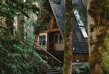 Outdoor retreat - cabin in the woods - wood house - off the grid refuge