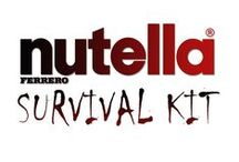 """Nutella Survival Kit / Because if a disaster happend my Nutella would be prepared too !! plus, Nutella has a long shelllife and a lot of qualities in common with """"classic""""  survival food. So what to put in the kit ?"""