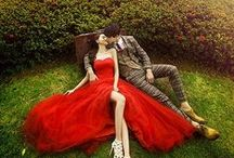 CHWV ♥ Red Wedding Dresses
