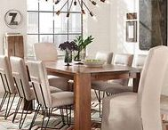 Mix and Match Dining / Mixing and matching styles of seating can give your dining room a cool, curated look. Our tip: play around with various combinations until you find the right feel!