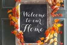 Falling for Autumn / Inspired by fall—the season of new cozy sweaters, the smell of pumpkin-spiced everything and adorning your home in warm autumn colors!