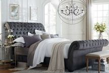 Try This Trend: Upholstered Headboards / Create the ultimate stylish sanctuary with an upholstered headboard, providing an interesting focal point and a modern, fashionable look in any bedroom!