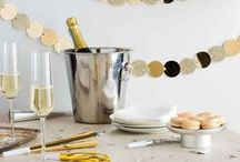 New Year's Eve Entertaining / Ring in the new year in style with our must-have pieces for home entertaining, decorating tips and party ideas!