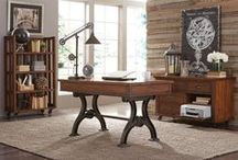 Inspiring Workspaces / Work from your home office in comfort and style. (For a limited time, enjoy FREE shipping on select home office furniture items at artvan.com)