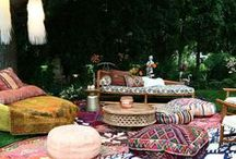 Bohemian, Bohème, gipsy, marrocan, ottoman outdoor / indoor decoration, inspiration and mood