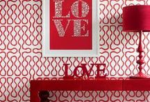 Color Inspiration: Red / It's the color of love and passion. Add a pop of warm, fiery red to your space.