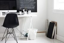 Color Inspiration: Black & White / It's a classic color combination that never goes out of style. Decorate your space in sophisticated black and white.