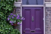 Color Inspiration: Purple / It's the color of royalty and romance. Add a pop of luxurious purple to your space.