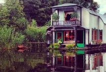 Boat House - floating home - house on water - lake house