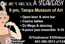 Art of Safe Sex: A Speakeasy / Flappers, fedoras, food and fun! Join us at the Tampa Museum of Art on April 19, 2013, at 9 pm. Get your best flapper duds on! $75 in advance/$100 at the door.  / by Planned Parenthood of SW & Central FL ♥