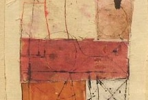 Red Shoes / Mostly abstract art...collage, paint, pencil