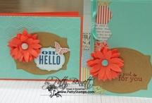 Stampin Up Spring Catalog / Stamping and crafting projects featuring Stampin Up Spring 2013 catalog products