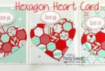 Hexagons / Stampin' Up! and other Card and crafting projects featuring Hexagons by Patty Bennett at www.PattyStamps.com  / by Patty Bennett