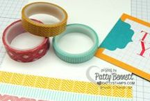 Washi Tape Fun / Stampin' Up card and DIY craft ideas featuring Washi Tape by Patty Bennett at www.PattyStamps.com  / by Patty Bennett