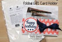 DIY Packaging Ideas / Dress Up a package - gift giving made pretty! / by Patty Bennett - Stampin' Up! Demonstrator