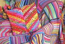 Kaffe Fassett / A Designer whose work has enriched my work with knitting, decorating and quilt making since I bought his first knitting book in the early 80's....and knit nearly every sweater in the book...Love his design and color sense
