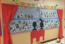 Bulletin Boards & Displays / Using bulletin board space in creative ways. Displaying books to pique student interest! / by Buzzing with Ms. B