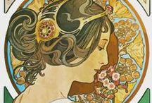 """ispirazioni * art nouveau / Corrente internazionale nel campo delle arti decorative nata in Francia alla fine dell'800. S'affermò come """"stile"""" universale, che improntò ogni aspetto della creatività in gran parte dell'Europa e Nord America. Gli elementi caratteristici furono: l'uso di linee curve e sinuose, forme organiche, vegetali o floreali, ricavate dalla rielaborazione di motivi naturali e barocchi. Dalla fusione di questi elementi deriva il dinamismo raffinato e decadente, che contraddistingue tutti i suoi prodotti."""