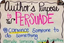 Reading Persuasive Text / Anchor charts, lesson ideas, books, and tools for teaching persuasive text reading. / by Buzzing with Ms. B