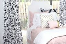 College Dorm Room Essentials and Dorm Decor / Headed to college and need inspiration and college dorm room decorating ideas and trendy?  College dorm room monograms, hundreds of fabrics and college headboards.  Make your dorm room FAB! / by Decor 2 Ur Door Bedding