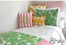Lilly Pulitzer Bedding and Lilly Dorm Decor / Love Lilly? Love our custom Lilly bedding...won't last long. Perfect for preppy dorm room and teen room décor.  / by Decor 2 Ur Door Bedding