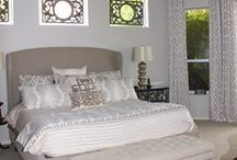 Designer Master Bedroom Ideas / Custom master bedding, and custom window panels...beautiful designer fabrics Design Ur Own / by Decor 2 Ur Door Bedding