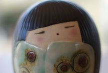 SiO Ceramic kokeshi / http://sioceramica.tumblr.com/