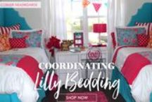 Preppy Dorm Living / Dorm decor and dorm room bedding for girls who love pearls and pink! Monograms and more! / by Decor 2 Ur Door Bedding